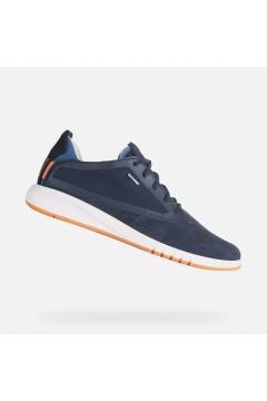 Geox U Aerantis A U027FA Sneakers Uomo Stringate Camoscio Tessuto Blu Casual U027FA02211C4002