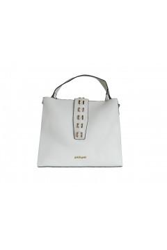 Gold & Gold GG337 Tote Bag Donna Manico Corto con Tracolla Bianco Borse GG337BIA