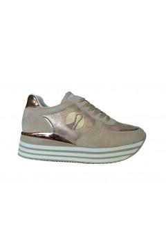 Inblu IN231 Scarpe Donna Sneakers Platform Stringate Memory Foam Nude Francesine e Sneakers IN231NUD