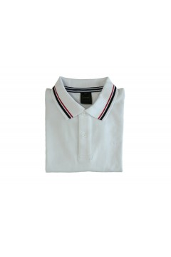 Geox M0210A Sustainable Polo Uomo Manica Corta con Profili Cotone Bianco Polo M0210AT2649F1492