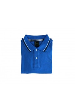 Geox M0210A Sustainable Polo Uomo Manica Corta con Profili Cotone Blu Royal  Polo M0210ABRY