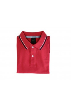 Geox M0210A Sustainable Polo Uomo Manica Corta con Profili Cotone Rosso Polo M0210AFRED