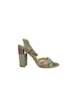 Gold & Gold GD226 Sandali Gioiello Donna Tacco Alto con Cinturino Bracciale Lurex Oro Sandali GD226ORO