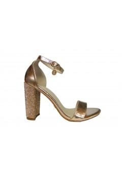 Gold & Gold GE38 Scarpe Donna Sandali Gioiello Tacco Alto Oro Rosa Sandali GE38RSG