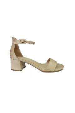 Gold & Gold GD186 Sandali Donna Tacco Medio 5 cm Cinturino alla Caviglia Beige Sandali GD186BEI