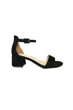 Gold & Gold GD186 Sandali Donna Tacco Medio 5 cm Cinturino alla Caviglia Nero Sandali GD186NR