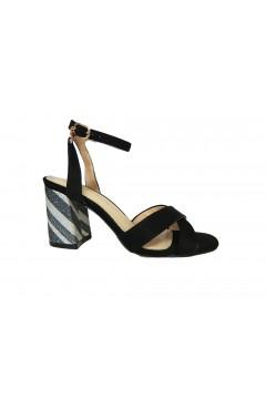 Gold & Gold GD210 Sandali Donna Tacco Alto con Cinturino alla Caviglia Nero Sandali GD210NR