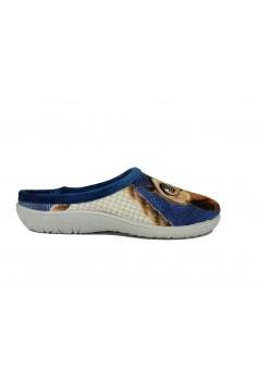 Axa 19181 Pantofole Donna Vaschetta Plantare Estraibile Gufo Blu Ciabatte e Infradito A19181BLU