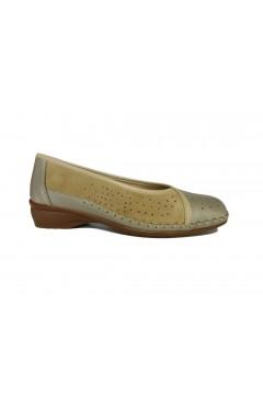 Stile di Vita 7154 Scarpe Donna Ballerine Comfort Vera Pelle Pietra Mocassini e Ballerine S7154PTR