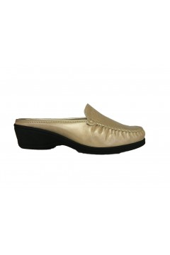 Stile di Vita 7456 Sabot Donna Comfort Traforati in Vera Pelle Pietra Mocassini e Ballerine S7456PTR