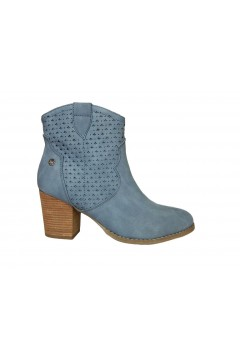 XTI 49896 Scarpe Donna Stivaletti Estivi Tacco Medio Jeans Stivaletti X49896JEA