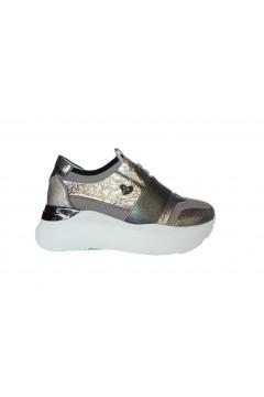 Braccialini Tua T62E Scarpe Donna Sneakers Platofrm Slip On Silver Crack  Francesine e Sneakers T62ESCK