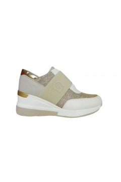 Gold & Gold GA237 Sneakers Donna Zeppa Media Slip On Beige Francesine e Sneakers GA237BEI