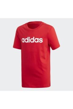 Adidas FS9587 T-Shirt Bambini Unisex Essential Rosso Abbigliamento Bambina FS9587