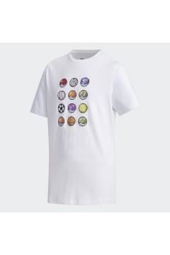 Adidas x Pokemon FM0667 T-Shirt Bambini Unisex Bianco Abbigliamento Bambina FM0667