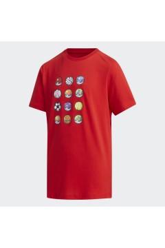 Adidas x Pokemon FM0668 T-Shirt Bambini Unisex Rosso Abbigliamento Bambina FM0668