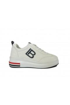 Laura Biagiotti 6022 Scarpe Donna Sneakers Stringate Bianco Francesine e Sneakers L6022BIA