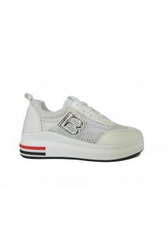 Laura Biagiotti 6023 Scarpe Donna Sneakers Stringate Bianco Francesine e Sneakers L6023BIA