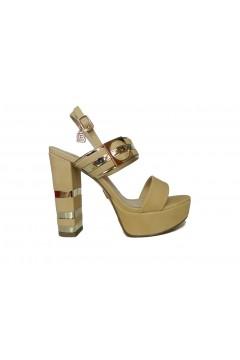 Laura Biagiotti 6122 Scarpe Donna Sandali Tacco Alto Sabbia Gold  Cerimonia L6122GSB