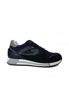 Alberto Guardiani AGU101013 Fresno Sneakers Uomo Stringate in Camoscio Mesh Blu Sneakers AGU101013BLU