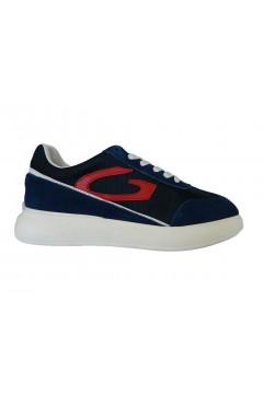 Alberto Guardiani AGU101037 King Sneakers Uomo Oversize Camoscio Mesh Blu Sneakers AGU101037BLU