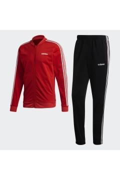 Adidas FM6308 Tuta Completa 3-Stripes Uomo Nero Rosso Tute FM6308