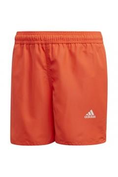Adidas FL8712 Costume Short Mare Piscina Bagno Arancio Fluo Abbigliamento Bambino FL8712