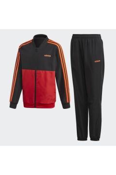 Adidas FM6561 Tuta Completa Bambino Nero Rosso  Abbigliamento Bambino FM6561