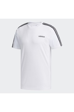 Adidas FL0356 Designed 2 Move T-Shirt Uomo Climalite 3-Stripes Bianco T-Shirts FL0356