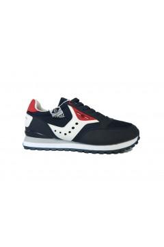 Cotton Belt 013050 Portland Scarpe Uomo Sneakers Stringate Blue Rosso  Sneakers 013050BRD