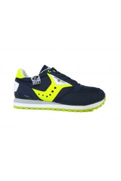 Cotton Belt 013050 Portland Scarpe Uomo Sneakers Stringate Blue Fluo  Sneakers 013050BFL