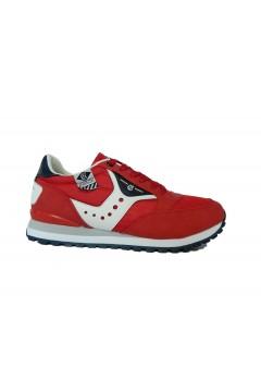 Cotton Belt 013050 Portland Scarpe Uomo Sneakers Stringate Rosso Sneakers 013050RSO