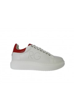 Romeo Gigli RG2700 Scarpe Uomo Sneakers Stringate Bianco Rosso  Sneakers RG2700RSO
