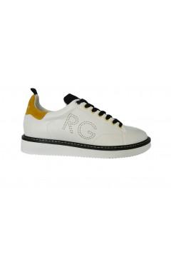 Romeo Gigli RG2704 Scarpe Uomo Sneakers Stringate Bianco Giallo Nero Sneakers RG2704BGN