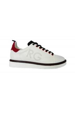 Romeo Gigli RG2704 Scarpe Uomo Sneakers Stringate Bianco Rosso Nero Sneakers RG2704BRN