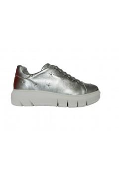 The FLEXX Elly Laminato Metal Scarpe Donna Sneakers Stringate Argento Francesine e Sneakers F2075ARG