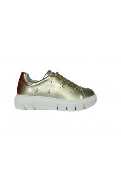 The FLEXX Elly Laminato Metal Scarpe Donna Sneakers Stringate Oro Francesine e Sneakers F2075ORO