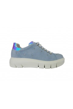 The FLEXX Elly Velour Scarpe Donna Sneakers Stringate Blu Denim Francesine e Sneakers F2075SKY