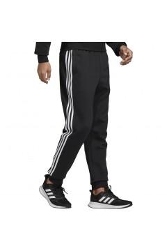 Adidas DQ3095 Pantaloni Uomo Essentials 3-Stripes Nero Pantaloni DQ3095