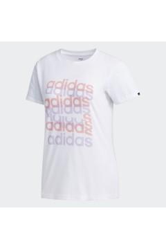 Adidas FM6150 T-Shirt Donna Big Graphic Regular Bianco Abbigliamento Sportivo FM6150