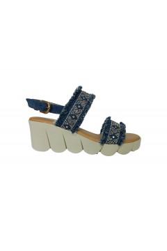 The FLEXX Slipway Fascia Scarpe Donna Sandali Zeppa Media Jeans Sandali SLIPWAYJEA
