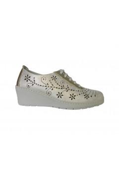 NOTTON 113 Scarpe Donna Comfort Stringate in Morbia Vera Pelle Champagne Francesine e Sneakers N113CHAM