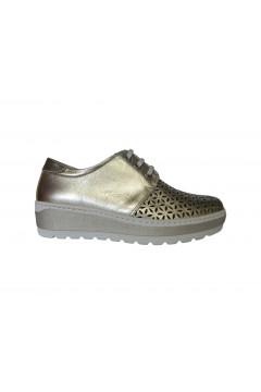 NOTTON 2822 Scarpe Donna Stringate in Morbida Vera Pelle Oro Francesine e Sneakers N2822ORO