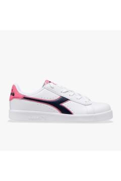 Diadora Game P GS Scarpe da Ginnastica Stringate White Black Pink Francesine e Sneakers 10117332301C8593