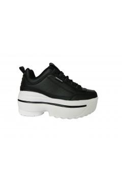 Refresh 72243 Scarpe Donna Sneakers Platform Stringate Nero Francesine e Sneakers R72243NR
