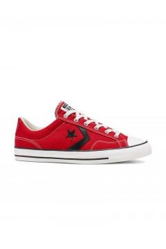 Converse 165458C Star Player Ox Sneakers Mid Canvas Red Black White Scarpe Sport 165458C