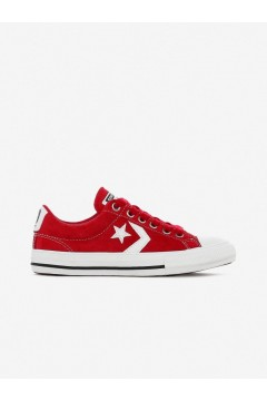 Converse 665872C Star Player Ev Ox Sneakers Mid Suede Red White Scarpe Bambina 665872C
