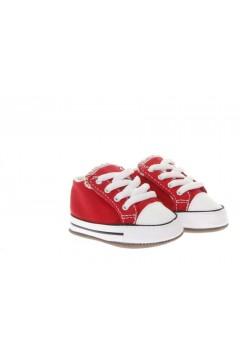 Converse 866933C All Star Cribster Sneakers Mid da Culla con Strappo Rosso Scarpe Bambina 866933C