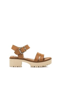 MTNG Mustang 58831 Sandali Donna Tacco Medio Platform Cuoio Sandali 58831CUO