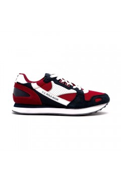 U. S. Polo Ass. Justin Scarpe Uomo Sneakers Stringate Blu Navy Rosso Sneakers JULIUS2RED